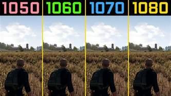 pubg gtx 1050 ti vs gtx 1060 vs gtx 1070 vs gtx 1080