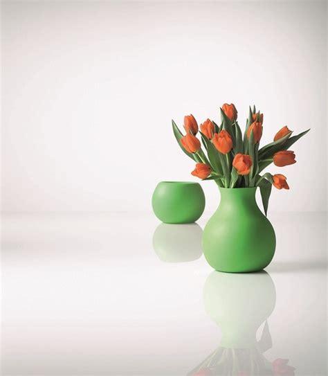 Menu Rubber Vase by Menu Rubber Vase In Lime Green Modern Vases San