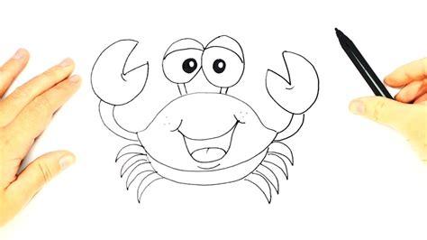 imagenes egipcias faciles de dibujar how to draw a crab for kids crab easy draw tutorial