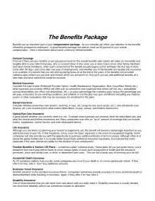 employee benefits package template best photos of sle employee benefit package sle