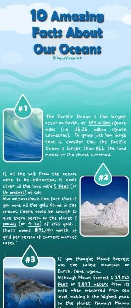 world geography  amazing facts   oceans