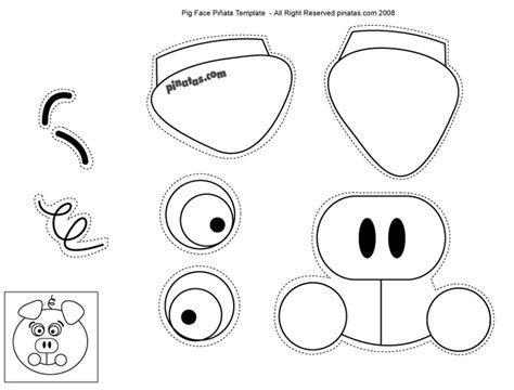 template for pig ears pig ears and nose template printable image gallery pig ear