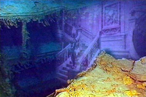 Titanic Wreck Interior by Inside Titanic Underwater Related Keywords Inside