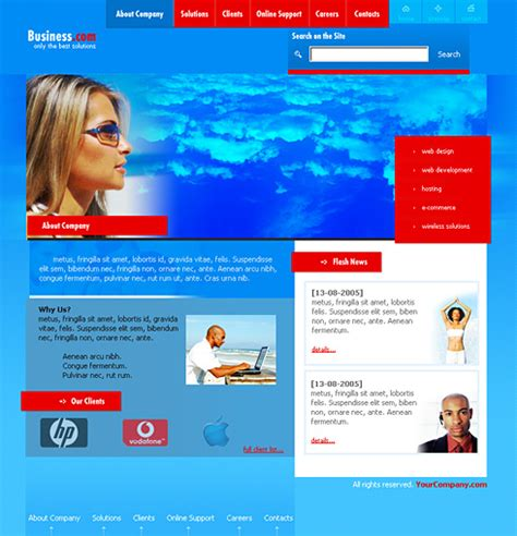 Clouds Chat Css Template 0149 Communications Website Templates Dreamtemplate Chatting Website Template Free