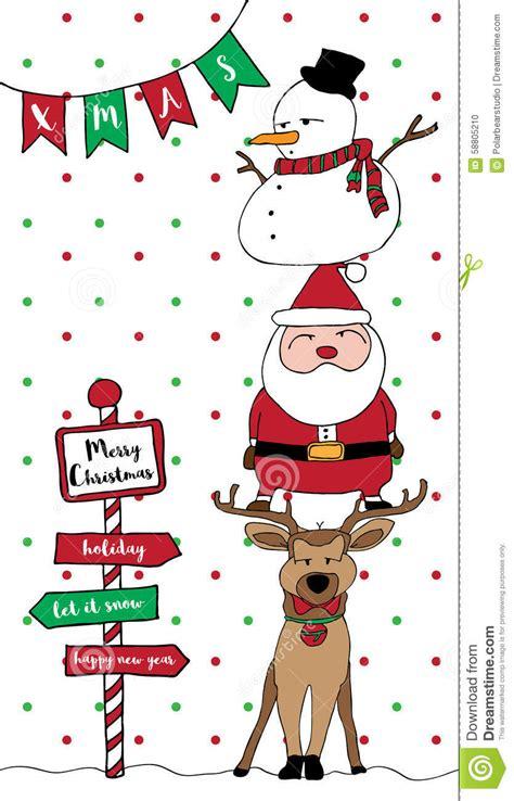 Family Natal I Do vertical do boneco de neve da rena de santa do cart 227 o do
