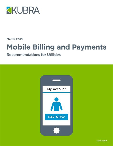 mobile billing mobile billing and payments recommendations for utilities