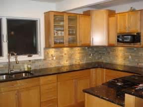granite countertops and oak cabinets
