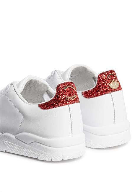 chiara ferragni glitter sneakers lyst chiara ferragni roger glitter collar leather