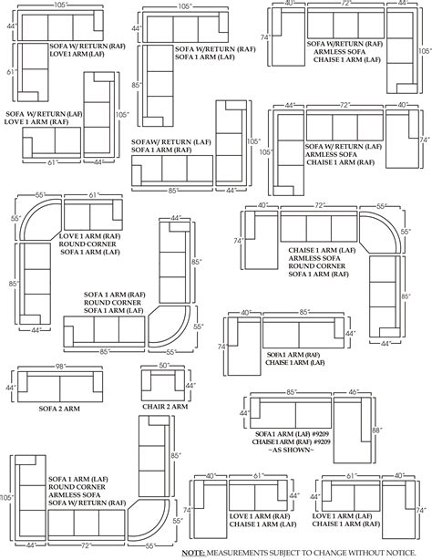 Sofa Set Measurements by Sectional Sofa Design Sectional Sofa Dimensions Standard