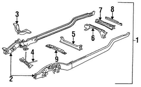 chevrolet k1500 parts frame components 1996 suburban k1500