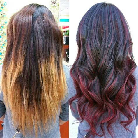 brunette and red hair pictures hombre best 25 red hombre hair ideas on pinterest fire red