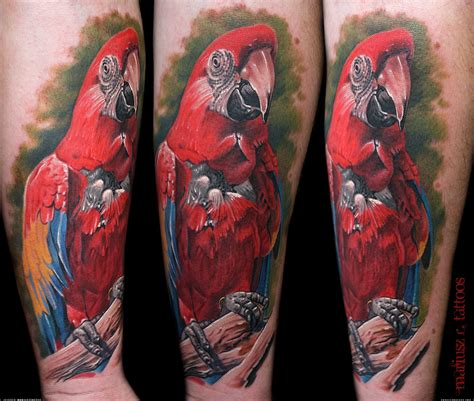 parrot tattoo parrot artists org