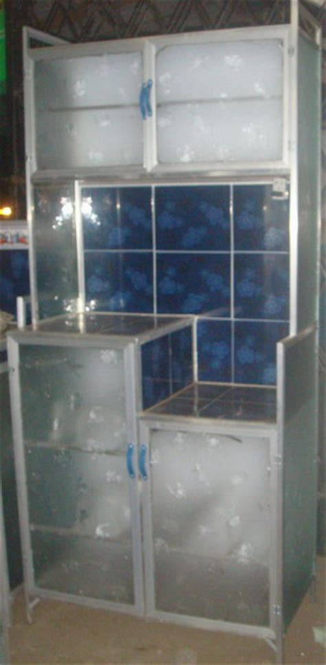 Rak Piring Kaca Rak Piring Kaca rak piring alluminium mahkota kreasi furniture distributor perabotan rumah tangga