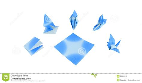 Origami Blue Bird - blue bird origami royalty free stock photography image