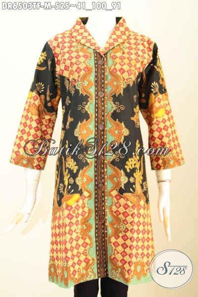 Dress Batik Terusan baju batik terusan busana batik wanita terkini dress