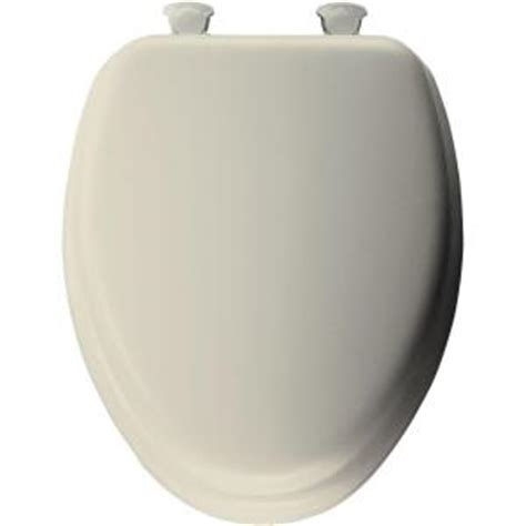 mayfair soft elongated closed front toilet seat in bone
