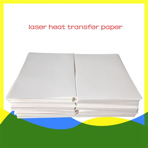laser printer iron on transfer paper for dark fabric 20pcs a4 size color laser heat transfer paper for dark