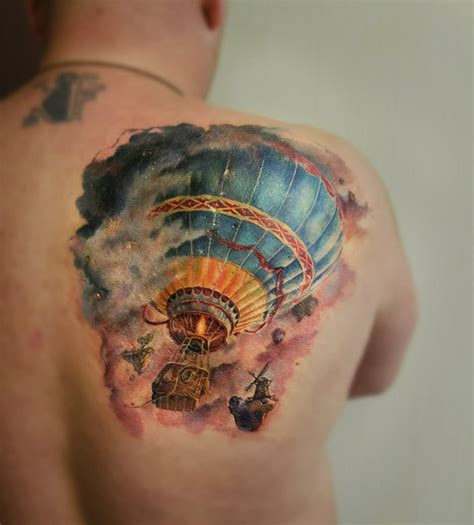hot air balloon tattoo designs air balloon