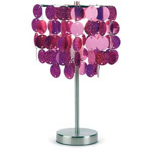 three cheers for girls lamps fuchsia paillette table lamp