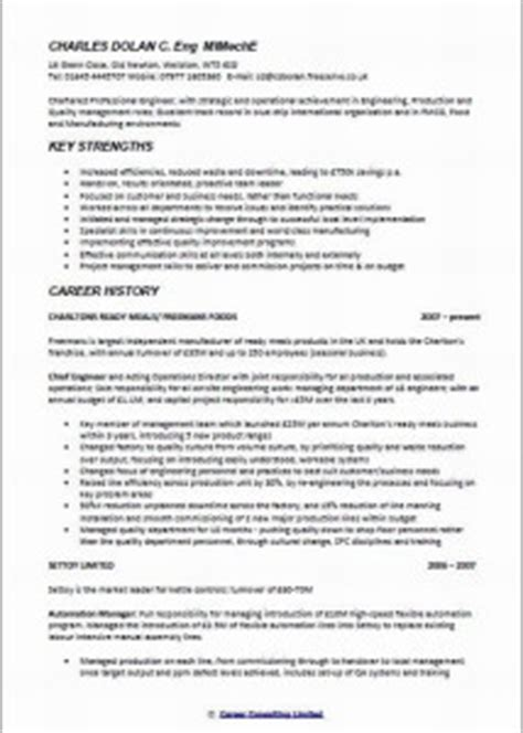 chief engineer curriculum vitae 28 images chief