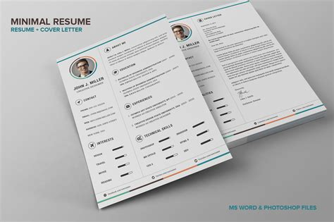 minimalist resume template photoshop preview 1 o jpg 1430457496