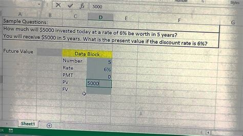 present value and future value calculator template in