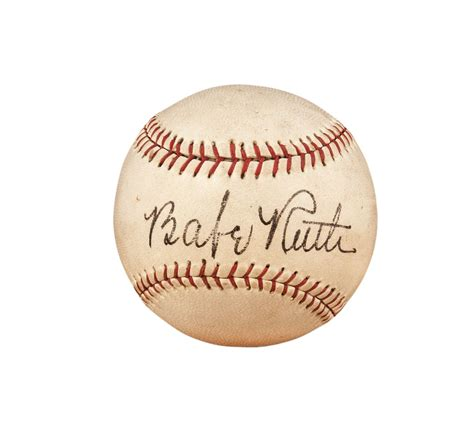 Lot Detail Babe Ruth Single Signed Baseball With Psa Dna