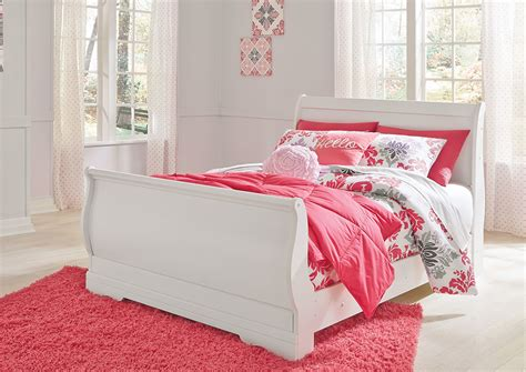 white full bed eddie s furniture mattress anarasia white full sleigh bed