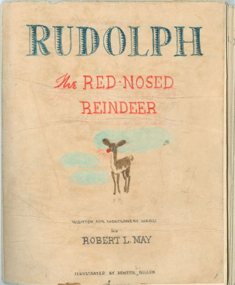 The L From The Story by Writing Rudolph The Original Nosed Manuscript Npr