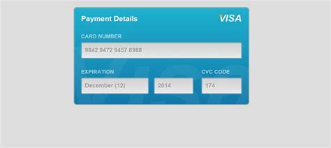 Html5 Credit Card Form Template 20 Amazing Css3 Html5 Form Exles Web Graphic