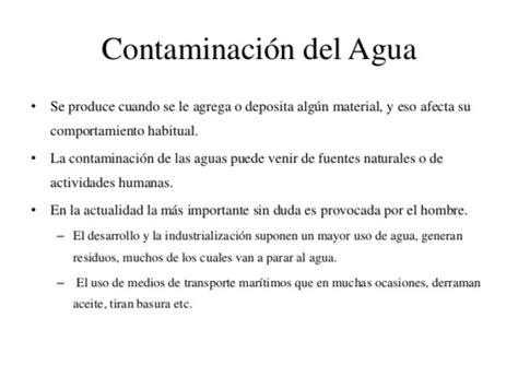 soneto sobre la contaminacin del agua informaci 243 n sobre la contaminaci 243 n ambiental del agua