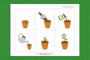 planting a flower sequencing activity speech therapy ideas