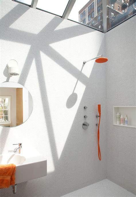 Modern Bathroom New York Bright Tile Trend New York Modern Bathroom