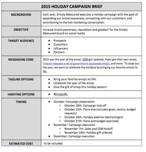 Social Media Briefformat ten steps to your social media caign for season solomozone