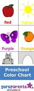 toddler color chart try using this preschool color chart when teaching colors