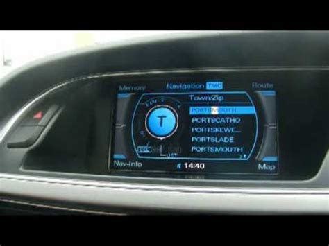 Audi A6 Multimedia System How To Set A Destination In Multimedia Interface Satellite
