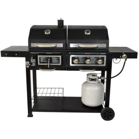 backyard grill gas charcoal combination grill portable dual fuel combination charcoal gas barbecue