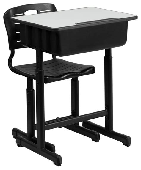 adjustable height desk and chair with black pedestal frame flash furniture adjustable height desk and chair