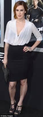 Black Bra Sheer White Blouse by Rumer Willis Takes The Plunge In Sheer Top As She Brings