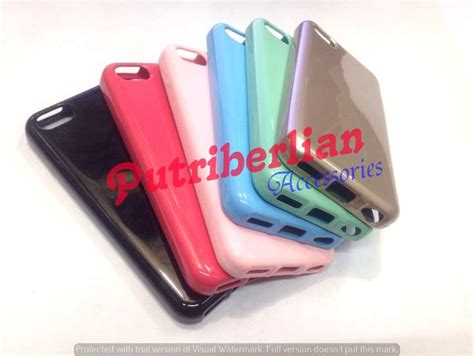 Iphone 5c 5 C Soft Jelly Style Casing Cover Bumper jual beli iphone 5c soft silicon mercury jelly