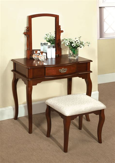 princess vanity set with mirror and bench madera makeup bedroom vanity set table w drawer stool