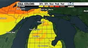 michigan fall color map 2016 northern michigan fall color map mynorth