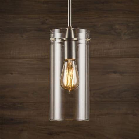 Large Clear Glass Pendant Light Effimero Large Stem Hung Pendant L With Clear Glass Cylinder Modlar