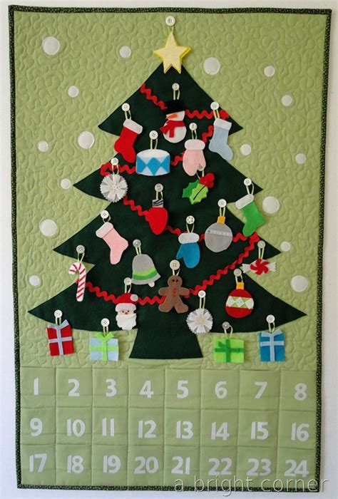 pattern for christmas tree advent calendar diy advent calendars to help count down to christmas