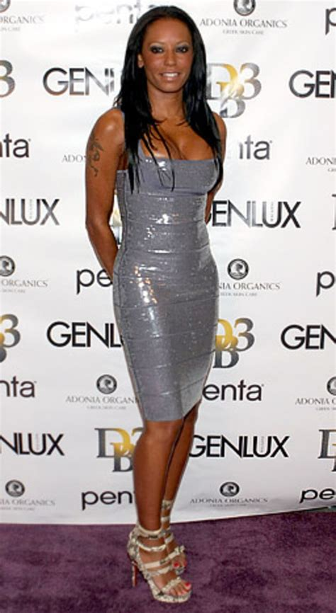 Mel Dress mel b in herve leger dresses us weekly
