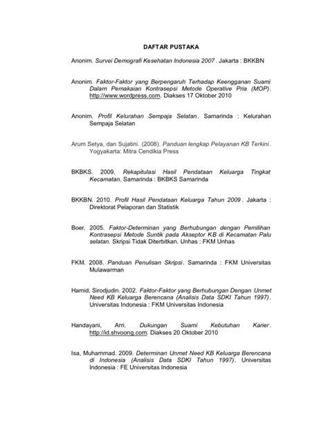 Panduan Lengkap Pelayanan Kb Terkini Penerbitnumed daftar pustaka