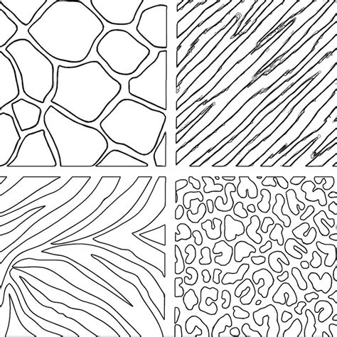 pictures of animal print az coloring pages