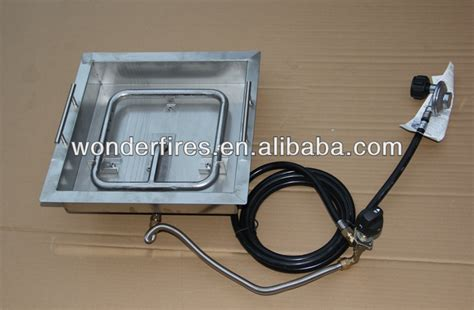 outdoor rectangle gas pit burner for pit table