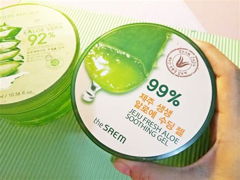 Harga Nature Republic Aloe Vera Untuk Jerawat review aloe vera gel nature republic vs the saem which