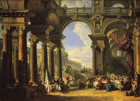 The Wedding At Cana Humanism by File Paolo Panini The Wedding At Cana About 1725